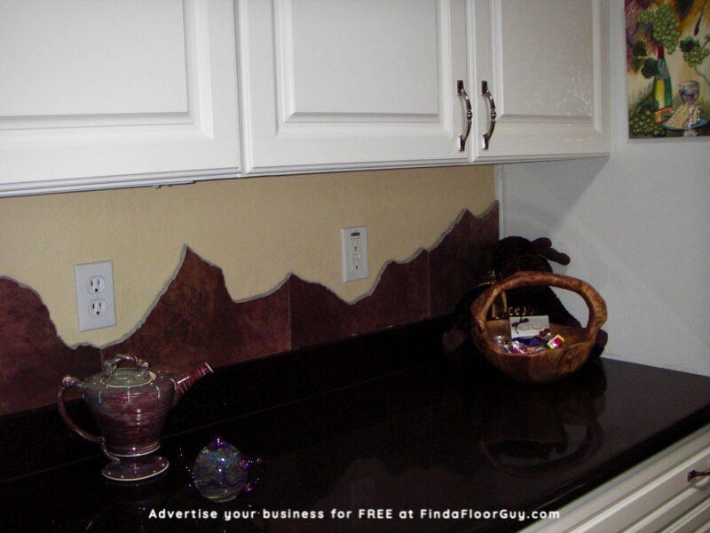 Custom Mountain View Tile Backsplash