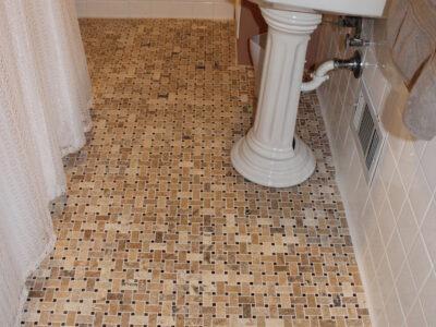 Bathroom Floor Travertine Mosaic Tile