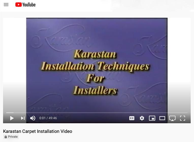 KARASTAN CARPET INSTALLATION VIDEO INTRODUCTION SCREEN