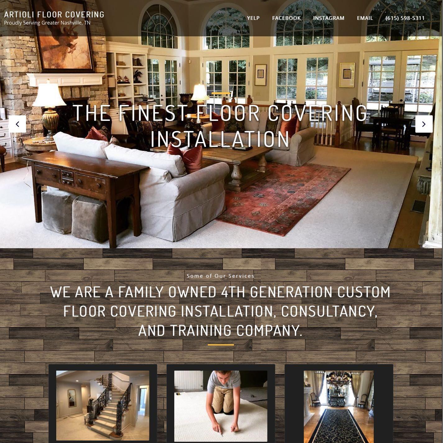 A floor installation company website