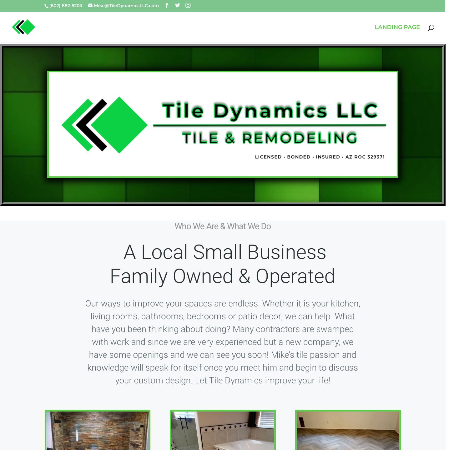 A Tile Installer's Website